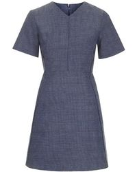 Topshop Boucle V Neck Dress - Lyst