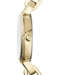 Michael Kors Mini Golden Stainless Steel Delaney Threehand Glitz Watch - Lyst