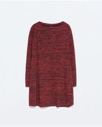 Zara Long-Sleeve Dress - Lyst