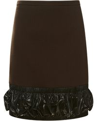 Christopher Kane Ruched Hem Skirt - Lyst