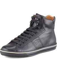 Bally Oxen Logo-embossed High-top Sneaker - Lyst