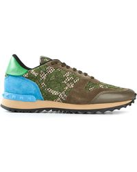 Valentino Green 'Rockrunner' Sneakers - Lyst