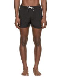 Burberry Brit - Black Embroidered Logo Swim Shorts - Lyst