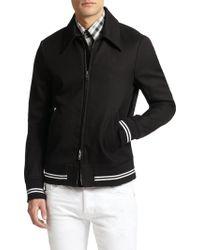 Diesel Black Gold Varsity Stripe Zip-up Jacket - Lyst