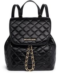 MICHAEL Michael Kors 'Susannah' Quilted Leather Backpack - Lyst
