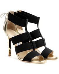Jimmy Choo Dario Leather Heeled Sandals - Lyst