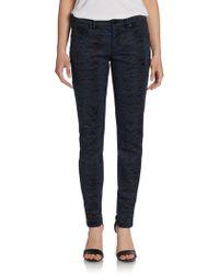 Elie Tahari - Selena Snake-print Jeans - Lyst