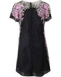 Marchesa Floral Embroidered Shift Dress - Lyst