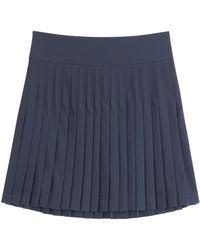 DKNY Pleated Skirt - Lyst