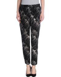 Joie Gage Printed Silk Straight Leg Pants - Lyst