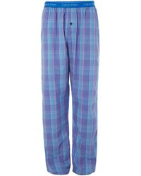 Calvin Klein Crosby Plaid Check Pant - Lyst