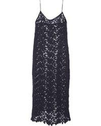 Katie Ermilio Floral Wool Lace Slip Dress - Lyst