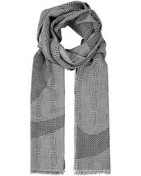 Alexander McQueen Prince Of Wales Patchwork Abstract Scarf - Lyst