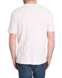 Diesel Seba Grey Marl T-Shirt With Denim Pocket - Lyst