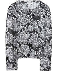Balenciaga Coated Printed Fineknit Sweater - Lyst