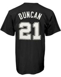 Adidas Mens San Antonio Spurs Tim Duncan Player Tshirt - Lyst