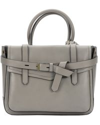 Reed Krakoff Grey Leather 'Boxer' Tote Bag - Lyst