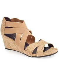 Vaneli Women'S 'Mireil' Strappy Wedge Sandal - Lyst