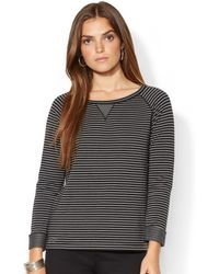 Lauren by Ralph Lauren Lauren Jeans Co Raglan Longsleeve Striped Top - Lyst