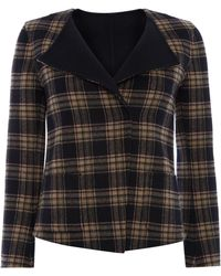 Max Mara Renza Double Faced Wool Tartan Jacket - Lyst