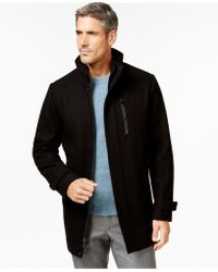 Calvin Klein | Melton Wool-blend Coat | Lyst