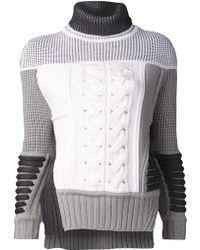 Prabal Gurung Patch Knit Sweater - Lyst