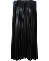 Lanvin Black Pleated Dress - Lyst