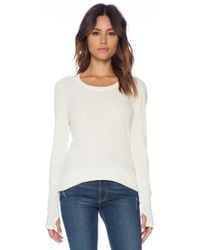 Michael Stars Thermal Scoop Neck Ivory - Lyst