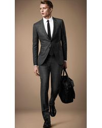 Burberry Slim Fit Travel Tailoring Wool Prince Of Wales Check Suit - Lyst