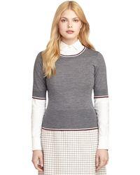 Brooks Brothers Wool Crewneck Sweater - Lyst