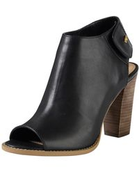 Cole Haan Wrey Peeptoe Leather Bootie - Lyst