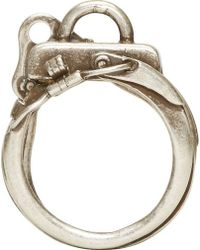 Maison Martin Margiela Silver Assorted Hardware Ring - Lyst