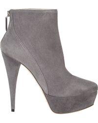 Miu Miu Platform Ankle Boots - Lyst