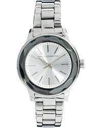 French Connection - Ladies Silver Round Face Bracelet Watch - Lyst