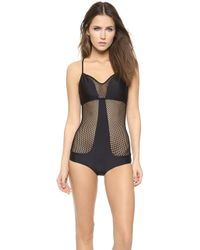 Luli Fama For Your Eyes Only One Piece Swimsuit - Black - Lyst