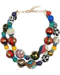 Etro Gold-plated Multi-stone Necklace - Lyst