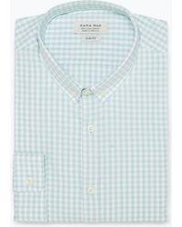 Zara Checked Shirt blue - Lyst