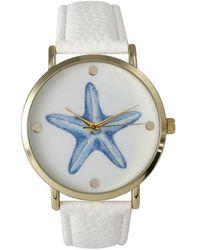Olivia Pratt - Women's Leather Cute Starfish Watch - Lyst
