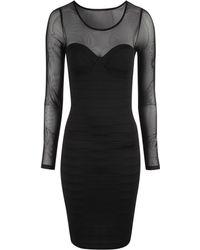 Jane Norman Bandage Mesh Dress - Lyst