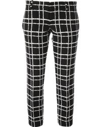 DSquared2 Checked Slim Fit Trouser - Lyst