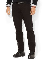 Polo Ralph Lauren Big and Tall Hampton Straight-fit Black-wash Jeans - Lyst