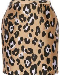 Adam Lippes Leopard-jacquard Mini Skirt - Lyst