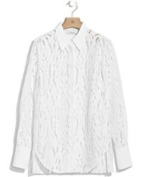 3.1 Phillip Lim Classic Button Down Shirt With Silk Combo beige - Lyst