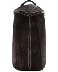 Julius - Black Goat Skin Backpack - Lyst