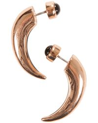 Pamela Love Inlay Horn Earrings Rose Gold With Onyx Inlay - Lyst