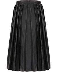 Joseph Nappa Leather Pleat Skirt - Lyst