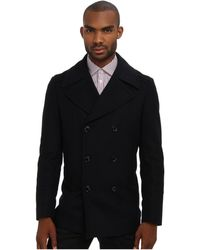 Pierre Balmain Double Breasted Coat - Lyst