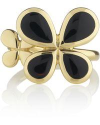Manja - Gold Reva Ring Onyx - Lyst