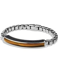 David Yurman Exotic Stone Id Bracelet with Tigers Eye - Lyst