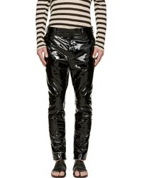 Haider Ackermann Black Patent Leather Trousers - Lyst